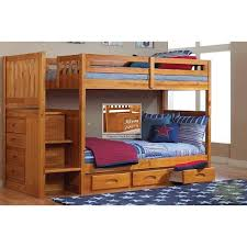 Ashley Furniture Bunk Beds With Desk Honey Mission Youth Twin Stair Stepper Bunk Bed With Rake Slat