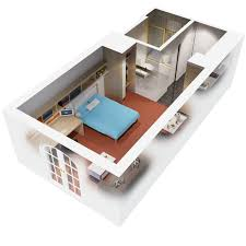 apartments 3d floor plan 1 bedroom apartment design idea wayne