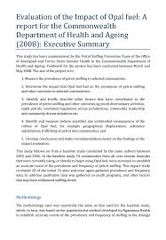 evaluation of the impact of opal fuel executive summary