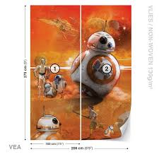 wall mural star wars force awakens bb8 xxl photo wallpaper 2761dc wall mural star wars force awakens bb8 xxl