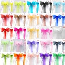 chair sash 25pcs lot new organza chair sashes bow wedding and events supplies