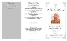 funeral programs sles template of funeral program
