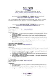 Assistant Project Manager Construction Resume by Monster Resume Template Resume Sample 23 Construction