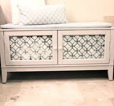 Small Storage Bench Inspiredwives Diy Storage Bench I Know The Pinhole Siding Is