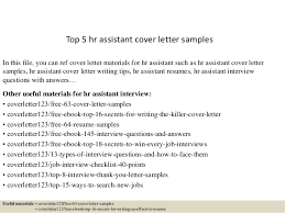 Hr Assistant Resume Top 5 Hr Assistant Cover Letter Samples 1 638 Jpg Cb U003d1434596400
