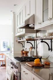 Open Shelf Kitchen Cabinet Ideas by Building Open Shelving Below Existing Cabinets Kitchen