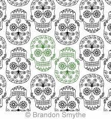 sugar skull panto brandon smythe digitized quilting designs