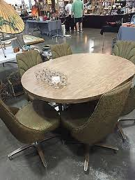 chromcraft table and chairs vintage mcm chromcraft dining set table 6 chairs mid century with
