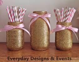 jar baby shower ideas jar centerpiece black gold baby shower ideas baby