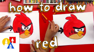 how to draw red from angry birds youtube