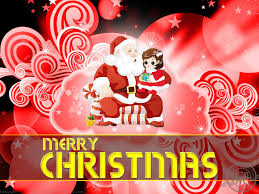 merry christmas santa claus wallpapers with red background jpg