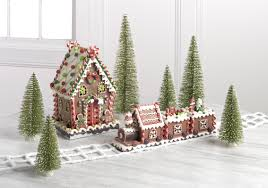 christmas home décor gingerbread house train lauras home and