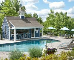 Backyard Pool House by Pool House Bar Houzz
