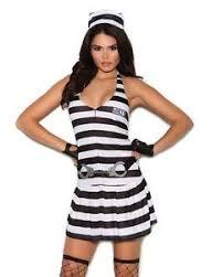 Womens Prisoner Halloween Costume Prisoner Halloween Costume Small Women Jail Inmate Black