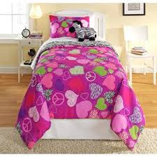 Pink Zebra Comforter Furry Friends Three Piece Zebra Peace Heart Comforter Set