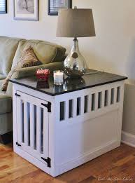 How To Make End Table Dog Crate by 13 Free Dog House Plans Anyone Can Build