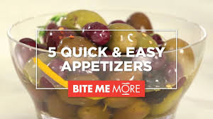 easy appetizers 5 quick easy appetizer recipes for friends family youtube
