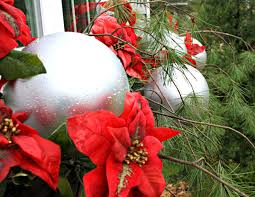Outdoor Christmas Ornament Balls by Christmas Window Boxes The Lilypad Cottage