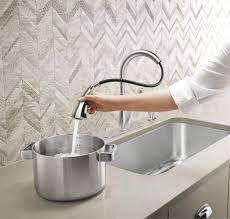 touchless kitchen faucet kohler faucet ideas