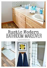 Rustic Modern Bathroom Rustic Modern Master Bathroom Makeover Part 2