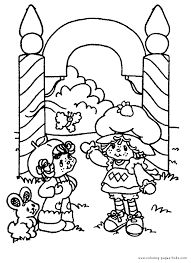 strawberry shortcake color page coloring pages for kids
