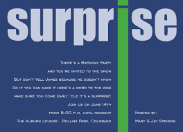 surprise birthday party invitation wording cimvitation
