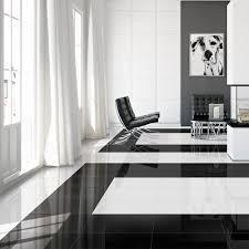 high gloss black tile zebra porcelain tiles 452x452x7mm tiles