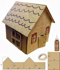 little cardboard houses art projects for kids