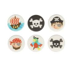 Pirate Cake Decorations Pirates Mix By Culpitt Edible Icing Cupcake Toppers Select Pack Size