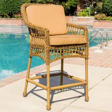 Patio Furniture Resin Wicker Everglades Honey Resin Wicker Patio Bar Stool By Lakeview Outdoor