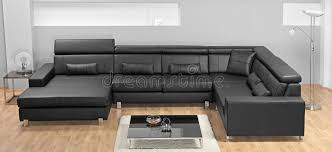 Modern Minimalist Sofa A Modern Minimalist Living Room With Leather Sofa Stock Photo