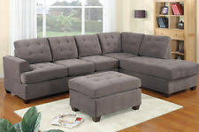 suede sectional sofas loveseats u0026 chaises ebay