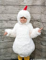 Halloween Chicken Costume Sew Tutorial Fluffy Chicken Costume