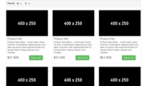 product layout bootstrap bootstrap list grid view