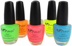 amazon com 6 pack of glow in the dark nail polish u0026 bewild brand