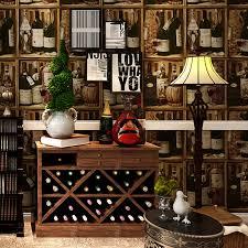 Retro Bar Cabinet 3d Non Woven American Country Vintage Retro Liquor Cabinet