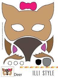 felt animal mask printable templates masking animal masks
