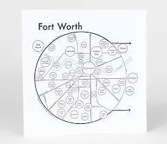 Fort Worth Map Fort Worth Map Print U2014 Archie U0027s Press