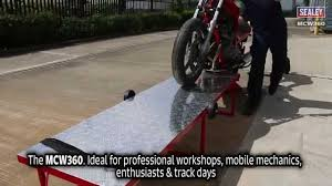 Motorcycle Bench Lift Sealey Mcw360 Portable Motorcycle Workbench Youtube