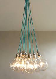 Colored Chandelier Light Bulbs 9 Cluster Cualquier Color Lámpara Colgante Por Hangoutlighting