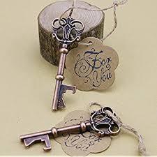 key bottle opener wedding favors wedding favor skeleton key bottle opener with