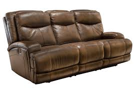 Power Recliner Leather Sofa 3692ed Power Recliner Leather Sofa Brown Violino Limited