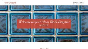 glass block supplier website templates godaddy