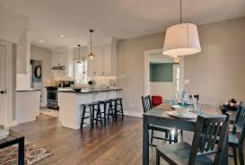 white shaker cabinets open transitional kitchen design