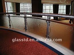 Glass Stair Handrail Tempered Glass Stair Handrail For Halls View Glass Stair Handrail