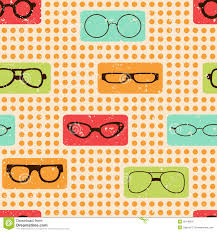 seamless color retro pattern with glasses stock image image