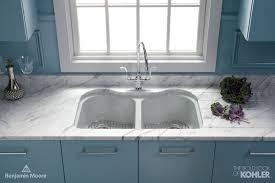 Blue Kitchen Sinks Dual Kitchen Sink Contemporary Kitchen Benjamin For Blue