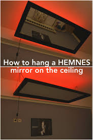 above the bed hemnes mirror ikea hackers ikea hackers