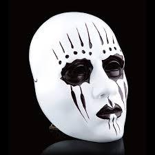 creepy mask resin gmask slipknot joey mask scary mask white slipknot