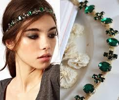 chain headpiece aliexpress buy fashion gem hairband band classic green